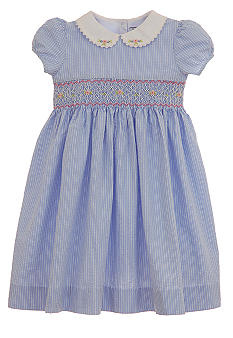 Hartstrings Blue Seersucker Dress Girls 7-16