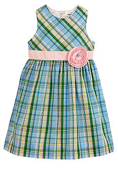 Hartstrings Plaid Dress Girls 4-6X