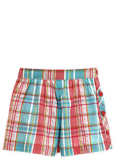 Hartstrings Plaid Short Girls 7-16