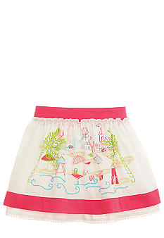 Hartstrings Beach Scene Skirt Girls 4-6x