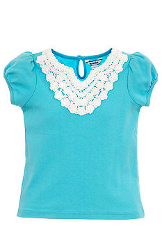Hartstrings Lace Trim Tee Girls 4-6x