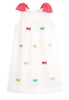 Hartstrings Bow Ponte Dress Girls 4-6x
