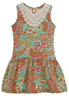 Hartstrings Butterfly Print Dress Girls 7-16