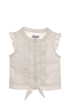 Happy Shirts Ruffled Woven Top Girls 7-16