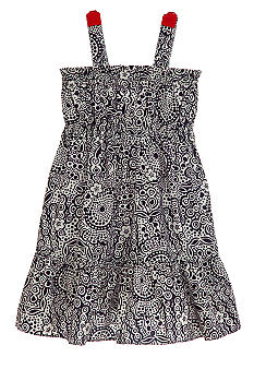 Hartstrings Floral Paisley Print Dress Girls 4-6X
