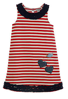 Hartstrings Stripe Dress Girls 4-6X