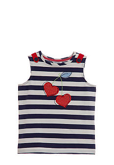 Hartstrings Striped Cherry Top Girls 4-6X