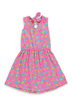 Hartstrings Floral Print Dress Girls 7-16