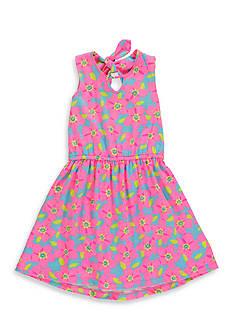 Hartstrings Floral Print Dress Girls 7-16