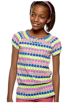Red Camel Girls Dot Peplum Top Girls 7-16