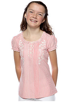 Red Camel Girls Stripe Woven Peasant Top Girls 7-16
