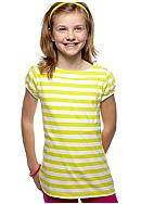 Red Camel Girls® Stripe Button Shoulder Top Girls 7-16