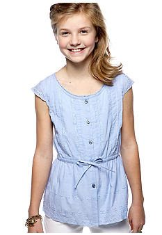 Red Camel Girls Eyelet Top Girls 7-16