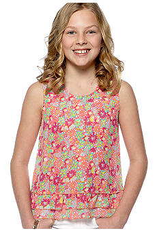 Red Camel Girls Hi Lo Chiffon Top Girls 7-16
