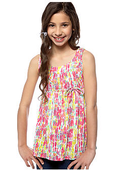 Red Camel Girls Multi Print U-Neck Top Girls 7-16