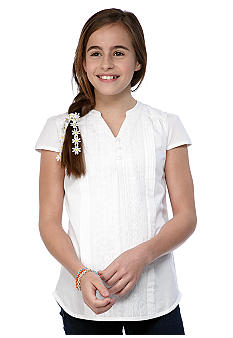 Red Camel Girls Woven Pintuck Top Girls 7-16