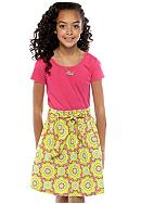 Red Camel Girls® Knit & Woven Printed Dress Girls 7-16