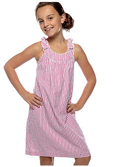 Red Camel Girls Seersucker U-Neck Dress Girls 7-16