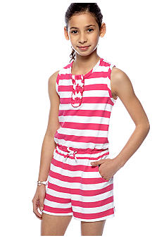 Red Camel Girls Stripe Romper Girls 7-16