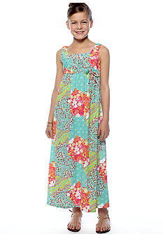 Red Camel Girls Floral Print Maxi Dress Girls 7-16