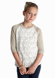 Red Camel Girls® Lurex Lace Top Girls 7-16