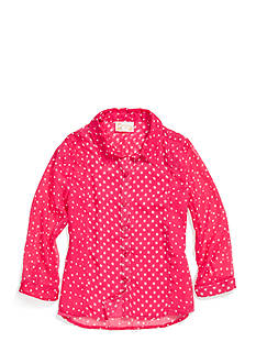 Red Camel Girls® Dot Chiffon Top Girls 7-16