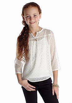 Red Camel Girls® Lurex Dot Print Tops Girls 7-16