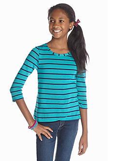 Red Camel Girls® Stripe Sweater Knit Tee Girls 7-16