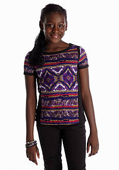 Red Camel Girls® Tribal Button Back Top Girls 7-16