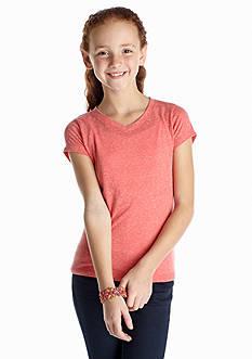 Red Camel Girls® Solid V-Neckline Tee Girls 7-16