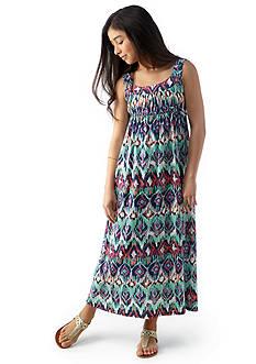 Red Camel Girls® Ikat Print Maxi Dress Girls 7-16