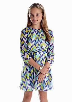Red Camel Girls® Chevron Chiffon Dress Girls 7-16