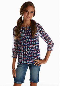 Red Camel Girls® Butterfly Peasant Top Girls 7-16