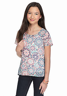Red Camel Twin Print Top Girls 7-16