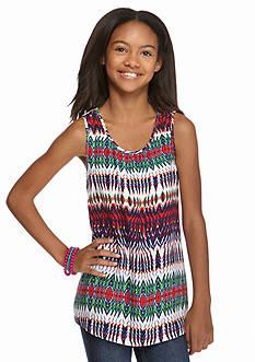 Red Camel Crochet Back Tribal Tank Girls 7-16