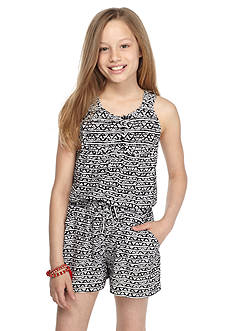 Red Camel Tribal Print Romper Girls 7-16