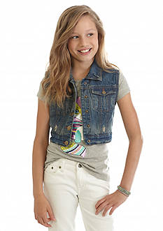 Red Camel Jean Vest Girls 7-16