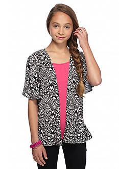 Red Camel Tribal Printed Cozy Cardigan Girls 7-16