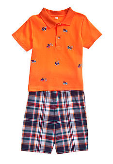 Good Lad Embroidered Sports Short Set Boys 4-7