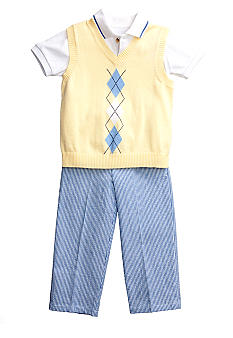 Good Lad 3-Piece Argyle Seersucker Pant Set Boys 4-7