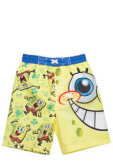 Nintendo Sponge Bob Swim Trunk Boys 4-7