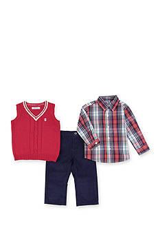 IZOD Red Sweater Vest Set Boys 4-7