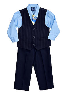 Pinstripe 4-piece Vest Set Boys 4-7