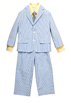 Izod 4-piece Seersucker Suit Boys 4-7