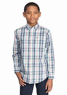 IZOD Plaid Woven Shirt Boys 4-7