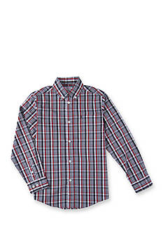 IZOD Saturated Plaid Woven Boys 4-7