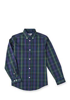 IZOD Preppy Tartan Woven Shirt Boys 4-7