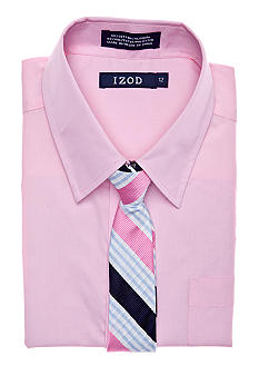 Izod Dress Shirt & Tie Boys 4-7