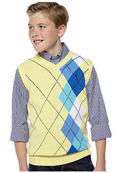 Izod Argyle Sweater Vest Boys 8-20