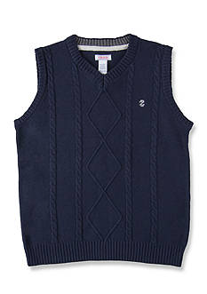 IZOD Solid Cable Sweater Vest Boys 8-20
